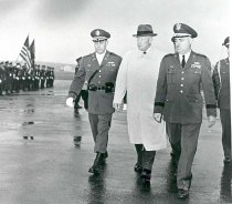 Image of Col. Miff Clowe and Pres. Eisenhower reviewing troops - 1175-226 wfchs