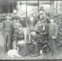 Image of Robert T. Barton and friends, 1890 - 1268-91 wfchs