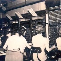 Image of Telco operators at work, c1935