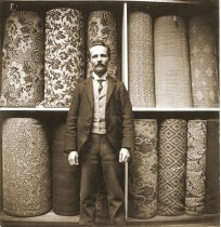 Image of Man with upholstery fabric