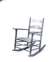 Image of Furniture. Ladderback rocking chair - 601-1303a wfchs