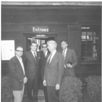 Image of Mayor Bell et al touring G. Washington's Office-Museum - 69-394b wfchs