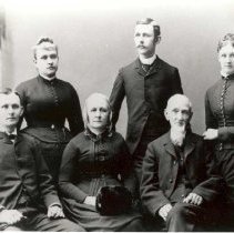 Image of The Bell family, c. 1888 - 7-115b wfchs