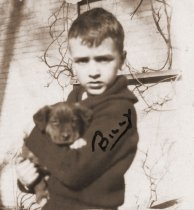 Image of Billy Bell with puppy