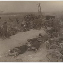 Image of British Wounded on Stretchers