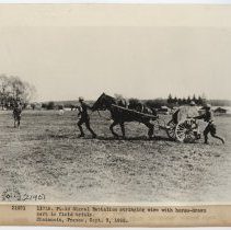 Image of Stringing Wire with Horse-drawn Cart