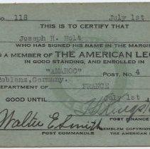 Image of 2012.12.11 - Card, Membership