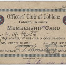 Image of 2012.12.7 - Card, Membership