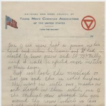 Image of 2013.58.1_March 18, 1918_Thomas R Shook to Parents_Page 2_Front