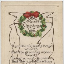 Image of 2013.58.14 - Postcard, Inscribed