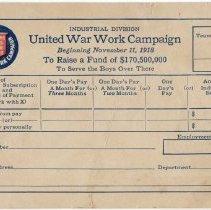 Image of 2014.9.11 - Card, Pledge