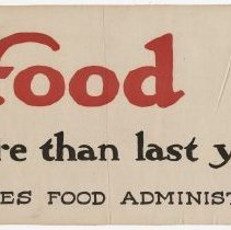Image of U.S. Food Administration Poster