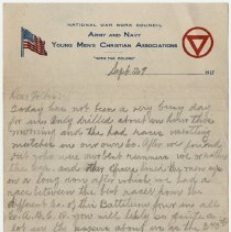 Image of 002_september 29, 1917_thomas R Shook To Parents_page 1