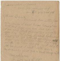 Image of 02_1992.80.1_no Date_pvt Grant Mcclellan To Wife (bessie Mcclellan)