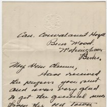 Image of 024_2013.42.1_january 13, 1916_raymond Penniman To Friend_page 01