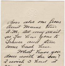 Image of 024_2013.42.1_january 13, 1916_raymond Penniman To Friend_page 04