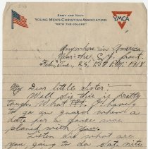 Image of 03_1999.79.3_february 25, 1918_perry Cook  To Florence Hemphill_page 01