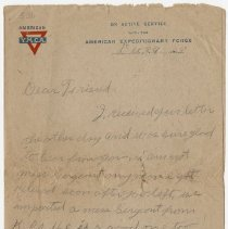Image of 04_1999.79.3_december 29, 1918_charles Merrill  To Clyde Hemphill_page 01