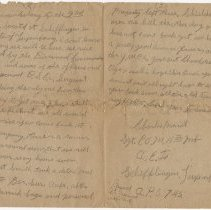 Image of 04_1999.79.3_december 29, 1918_charles Merrill  To Clyde Hemphill_page 02-0