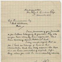 Image of 03_2013.42.4_november 4, 1916_e. Guider To Mr. Penniman