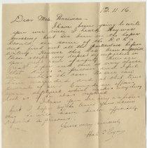 Image of 04_2013.42.4_november 13, 1916_hal C. Fryes To Mrs. Penniman