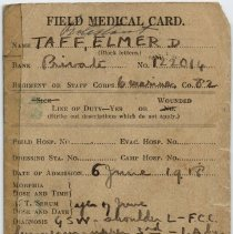 Image of Field Medical Card Page 1