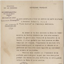 Image of French Letter Recognizing AFS Service