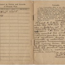 Image of Officer's Record Book - Page 4-5