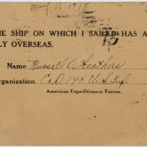 Image of Inscribed Postcard - Back