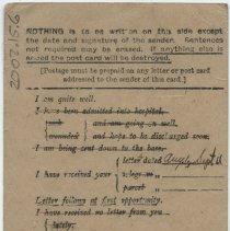 Image of Inscribed Postcard - Back