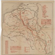 Image of Western Front Map at Armistice