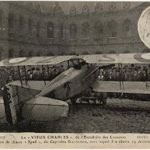 Image of Georges Guynemer and Airplane
