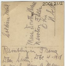 Image of Inscribed Postcard