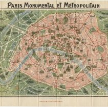 Image of Paris Guide Book - Page 15 (Map Unfolded)