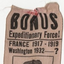 Image of Ribbon for Veterans' 1932 Bonus March