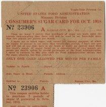 Image of Consumer's Sugar Card