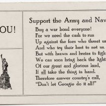 Image of Support the Army and Navy!