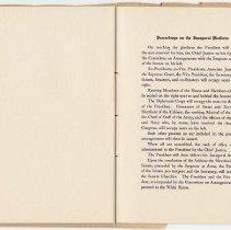 Image of 1917 Inauguration Program - Page 20-21