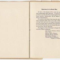 Image of 1917 Inauguration Program - Page 22-23