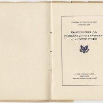 Image of 1917 Inauguration Program - Page 02-03