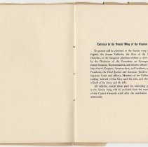 Image of 1917 Inauguration Program - Page 06-07