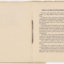 Image of 1917 Inauguration Program - Page 12-13