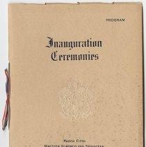 Image of 1917 Inauguration Program - Page 01
