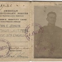 Image of Identification Card for John E. Johnson