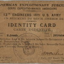 Image of AEF Identity Card