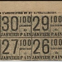 Image of French Bread Ration Ticket