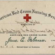 Image of American Red Cross Nursing Service Identification Card