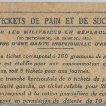Image of French Bread and Sugar Ration Ticket