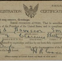 Image of Selective Service Registration Certificate