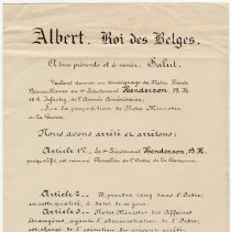 Image of Citation for Chevalier of Belgian Order of the Crown